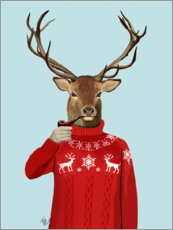 Acrylglas print  Deer in sweater - Fab Funky