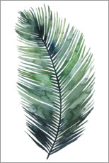 Premium poster Palm leaf Watercolor I