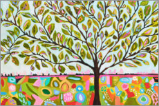 Muursticker  Happy tree of life - Karen Fields