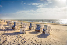Acrylglas print  Beach chairs in the sunset, Sylt - Christian Müringer