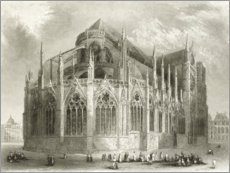Aluminium print  Notre Dame kathedraal, oostkant - Hablot Knight Browne