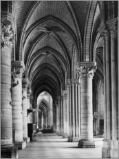 Acrylglas print  Interior view of the cathedral Notre Dame