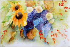 Canvas print  Autumn flowers - Brigitte Dürr