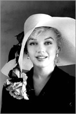 Acrylglas print  Marilyn Monroe with white hat - Celebrity Collection