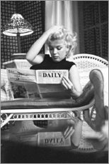 Aluminium print  Marilyn Monroe - De krant lezend - Celebrity Collection