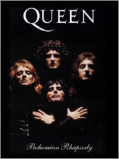 Hout print  Queen - Bohemian Rhapsody - Entertainment Collection