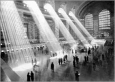 Hout print  Sunbeams in Grand Central Station