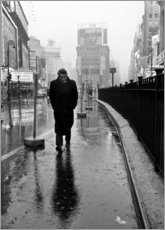 Acrylglas print  James Dean op het plein Times Square - Celebrity Collection