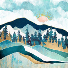 Premium poster Summer forest in the mountains