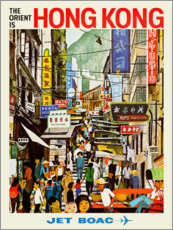 Premium poster  Hong Kong - Jet BOAC - Travel Collection