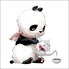Canvas print  High tea met panda - Kidz Collection