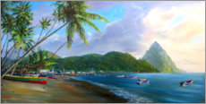 Acrylglas print  Soufriere Beach - Jonathan Guy-Gladding