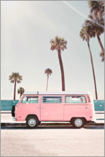 Aluminium print  Pink Bus under palm trees - Sisi And Seb