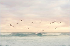 Acrylglas print  Seagulls in the surf - Sisi And Seb