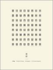 Premium poster  I Ching Chart With 64 Hexagrams (King Wen sequence) - Thoth Adan