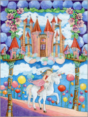 Acrylglas print  Princess and the unicorn in the magic land - Atelier BuntePunkt