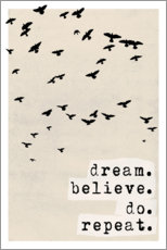 Canvas print  Dream believe do repeat - treechild