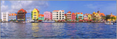 Acrylglas print  Colorful harbor buildings of Willemstad, Curacao
