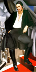 Acrylglas print  Portrait of the Duchess of La Salle, 1925 - Tamara de Lempicka