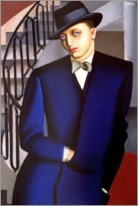PVC print  Portrait of the Marquis of Afflitto in the staircase, 1926 - Tamara de Lempicka