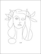 Canvas print  Hulde aan Picasso - Annli