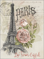Acrylglas print  Paris and the Eiffel Tower - Jennifer Parker