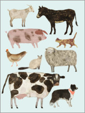 Canvas print  Farm animals II - Victoria Borges