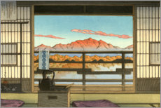 Acrylglas print  Morning at the Hot-spring Resort in Arayu, Shiobara - Kawase Hasui