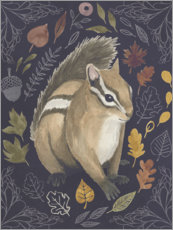 PVC print  Squirrel in the foliage - Grace Popp