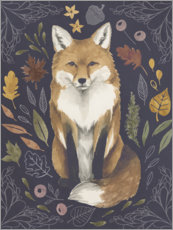 Acrylglas print  Fox in the foliage - Grace Popp