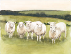 Canvas print  Sheep in the pasture - Victoria Borges
