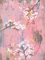 Canvas print  Cherry blossoms on pink - Melissa Wang