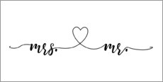 Canvas print  Mrs & Mr - Typobox
