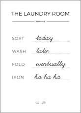 Canvas print  Laundry schedule - Typobox