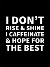 Premium poster I Don't Rise and Shine I Caffeinate and Hope for the Best