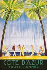 Premium poster Cote D'Azur all year round (French)