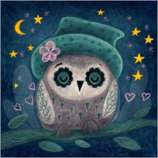 Premium poster Owl in the night