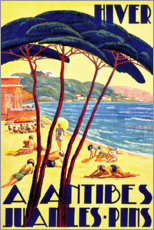 Premium poster Winter in Antibes (French)