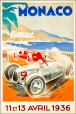 Aluminium print  Grand Prix van Monaco 1936 (Frans) - Travel Collection