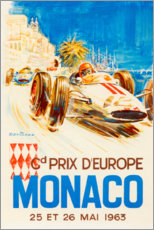 Aluminium print  Grand Prix of Monaco 1963 (French) - Travel Collection