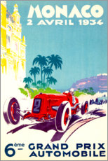 Aluminium print  Grand Prix of Monaco 1934 (French) - Travel Collection