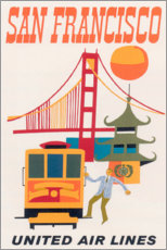 Acrylglas print  San Francisco (English) - Travel Collection