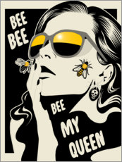 Acrylglas print  Bee my queen - dolceQ