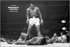 Hout print  Boxing legend Mohammed Ali - Celebrity Collection