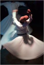 Acrylglas print  Whirling dervishes while dancing - Keren Su