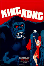 Canvas print  King Kong (Danish) - Entertainment Collection