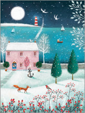 Canvas print  Christmas by the sea - Jo Parry