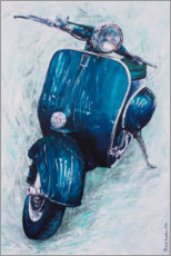Gallery print  Dark blue Vespa - Renate Berghaus