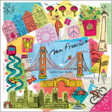 Acrylglas print  Global Travel - San Francisco - Farida Zaman