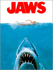 Canvas print  Jaws - Entertainment Collection